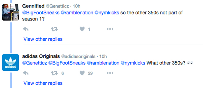 Adidas Originals Twitter Yeezy Boost 350