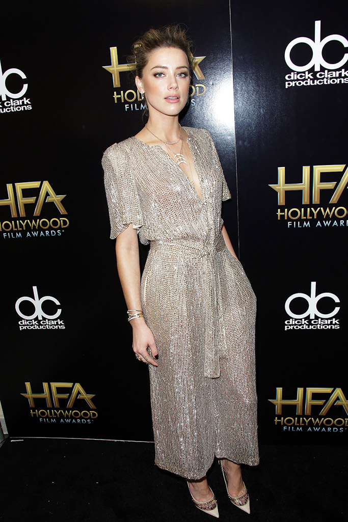 Amber Heard Hollywood Film Awards Red Carpet Jimmy Choo Shoes