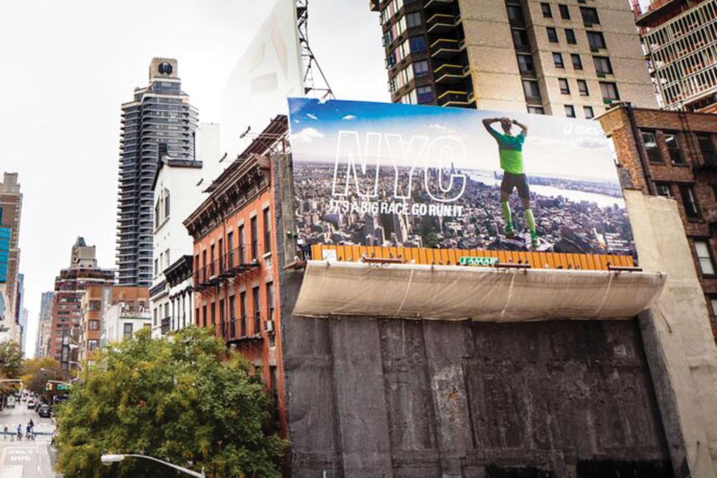 Asics' New York City Marathon signage