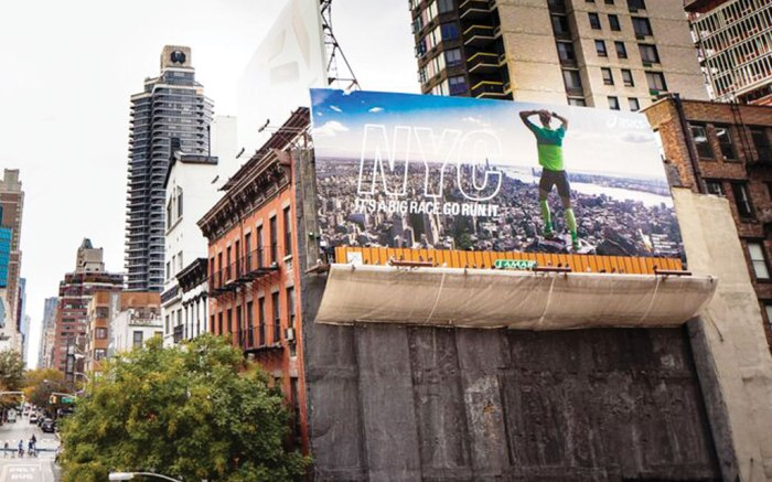 Asics' New York City Marathon signage