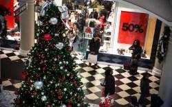 Black Friday shoppers in Manhattan.