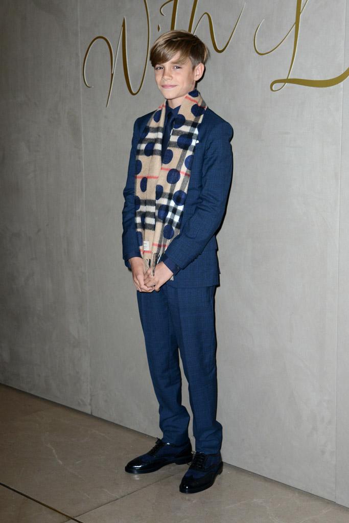 Romeo Beckham Burberry