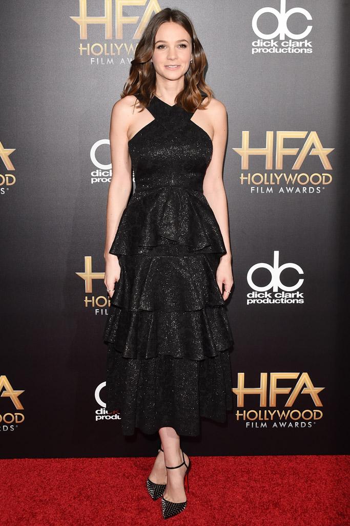 Carey Mulligan Celebrity Statement Shoes Fall 2015