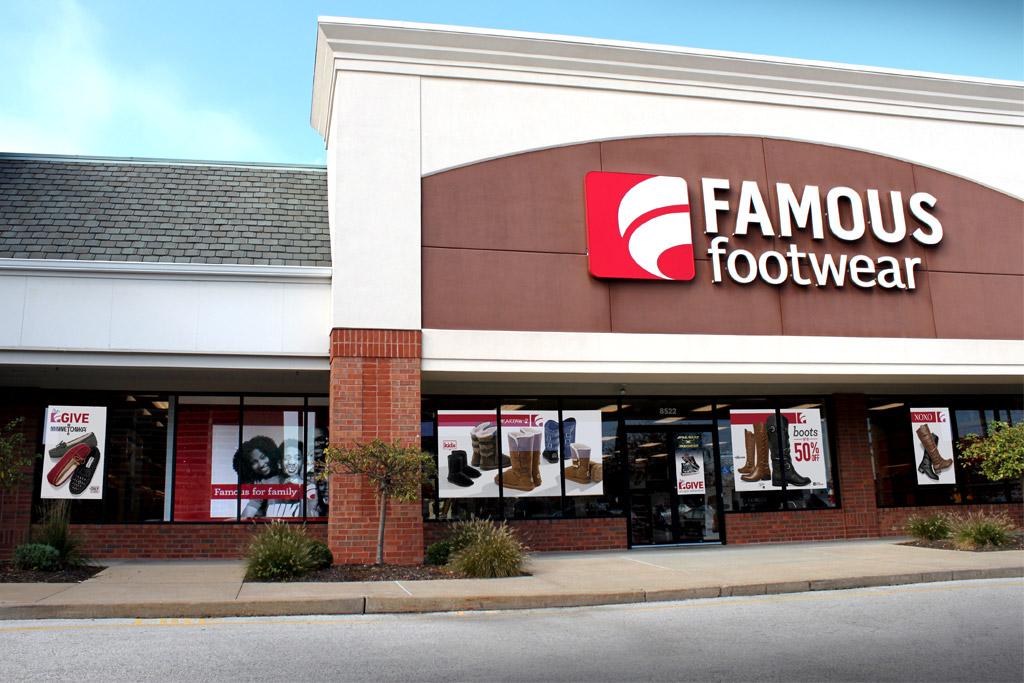 A Famous Footwear store.