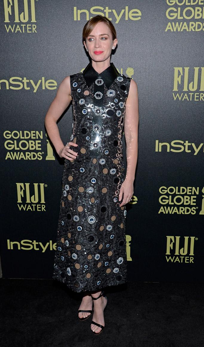 Emily Blunt HFPA InStyle Golden Globes