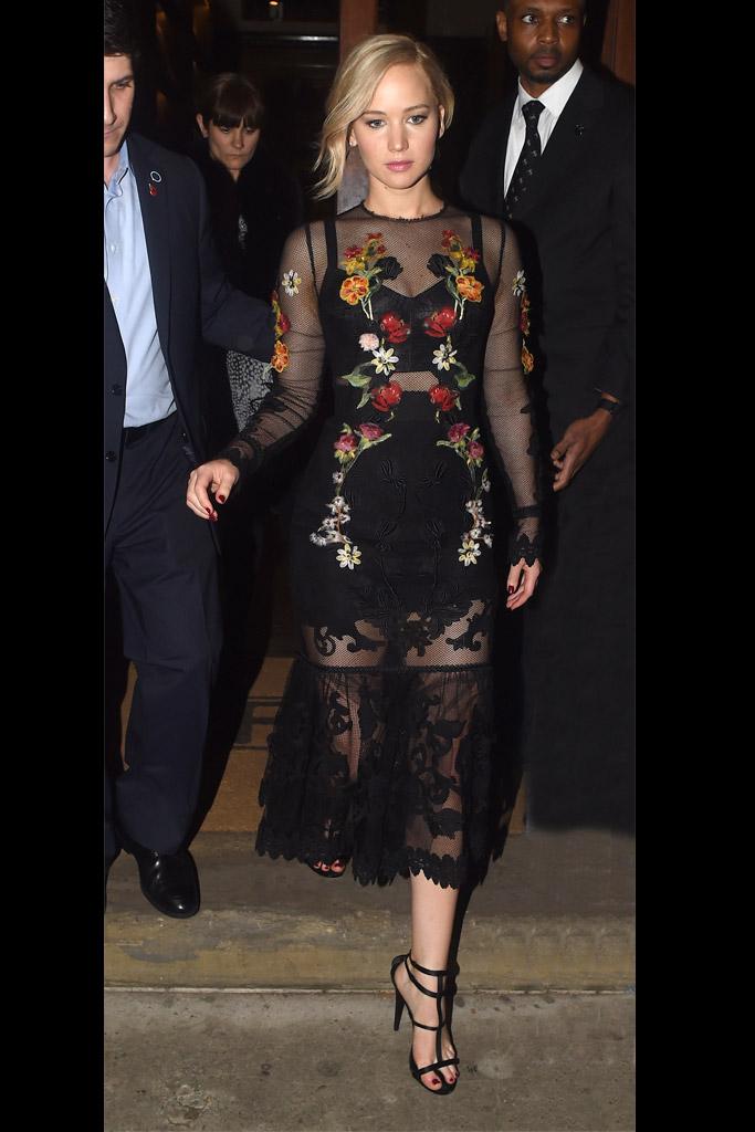 Jennifer Lawrence Celebrity Statement Shoes