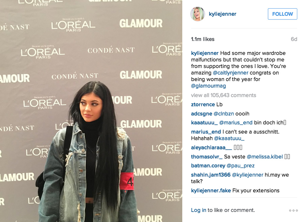 Kylie Jenner Glamour Women of the Year Awards
