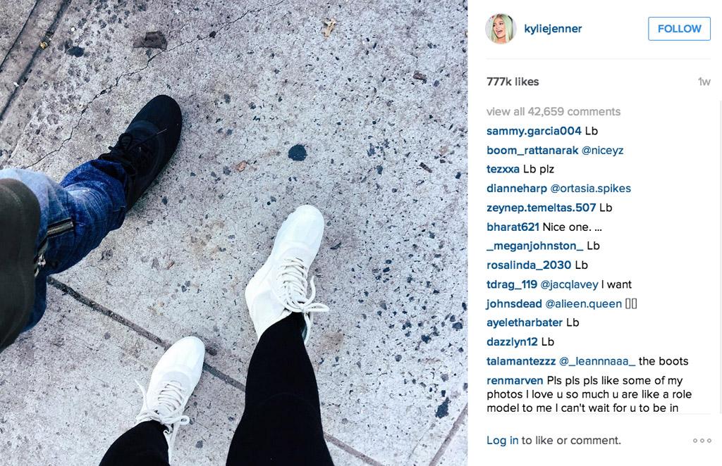 Kylie Jenner Instagram Tyga