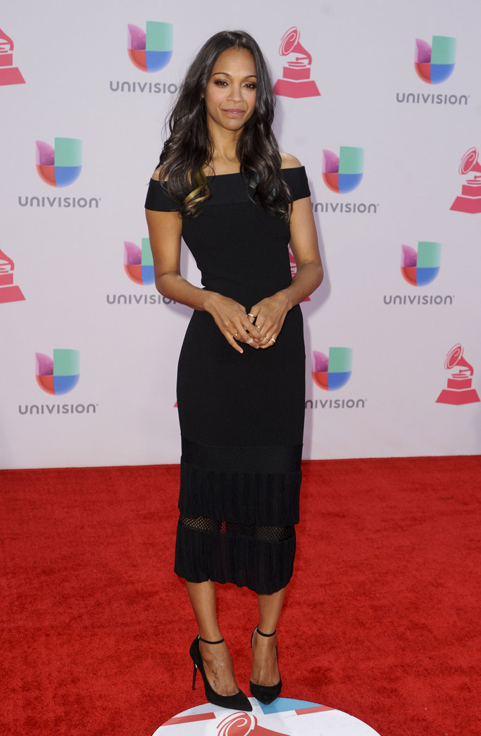 Zoe Saldana 2015 Latin Grammys