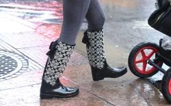 Rain Boot Street Style NYC