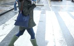 Rain Boots Street Style NYC