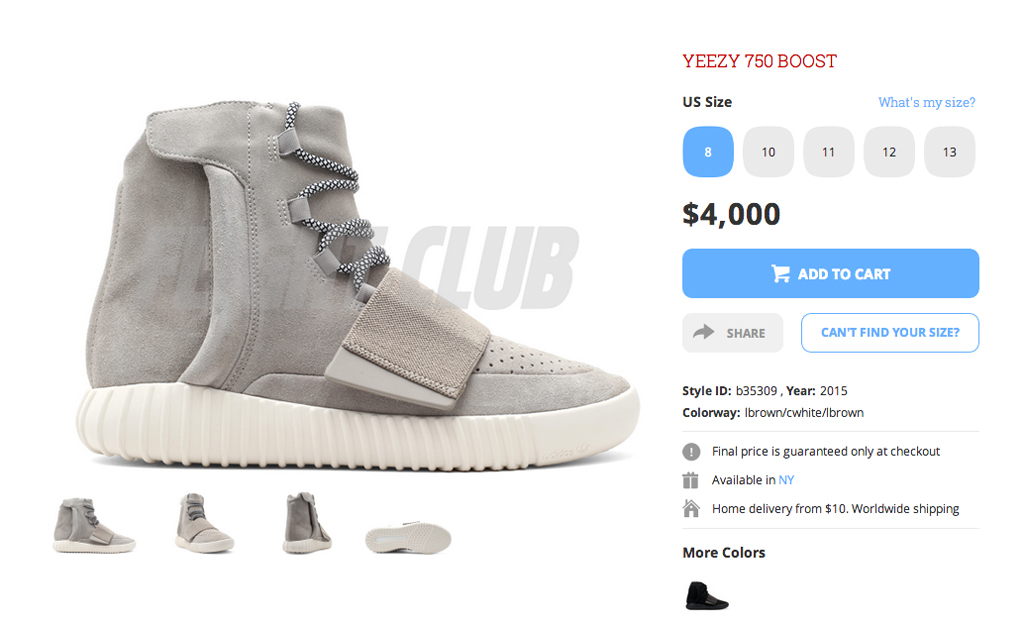 Adidas Yeezy Boost 750 Gray Flight Club