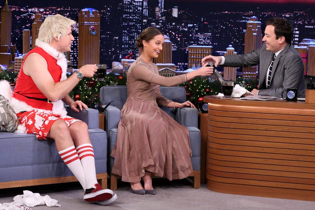 Alicia Vikander The Tonight Show Jimmy Choo