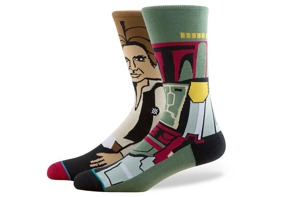 "Han Solo and Boba Fett Stance ""Star Wars"" socks"