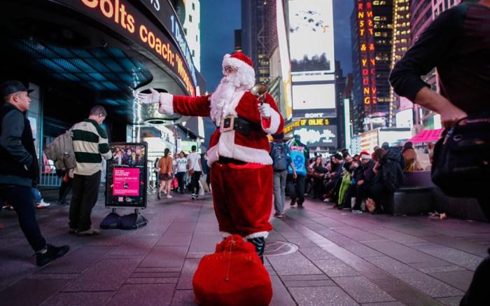 Christmas shopping New York