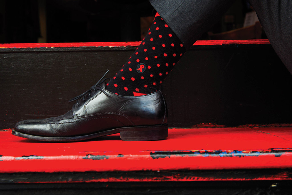 Conscious Step socks benefitting UN AIDS