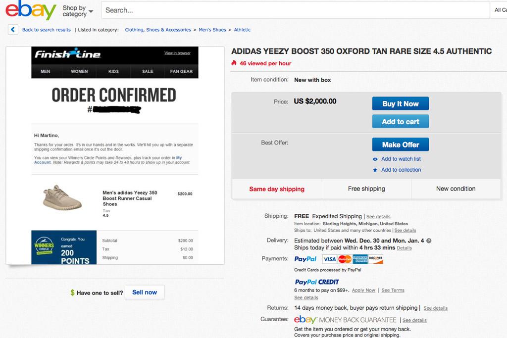 Ebay Adidas Yeezy Boost 350