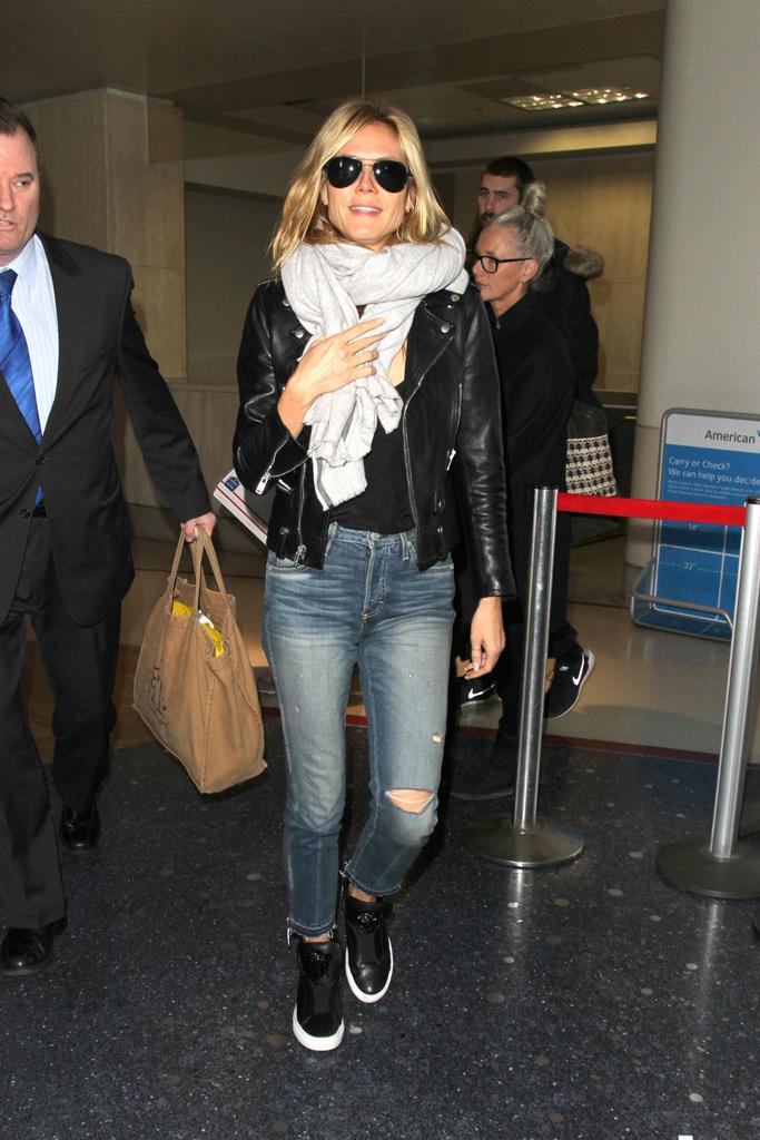 Heidi Klum Celebrity Sneakers Style