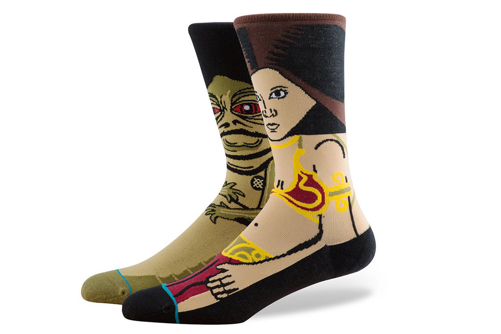 "Jabba the Hutt and Leia Stance ""Star Wars"" socks"