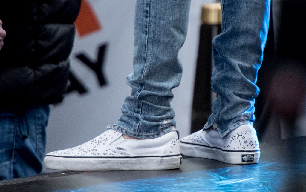 justin bieber white sneakers