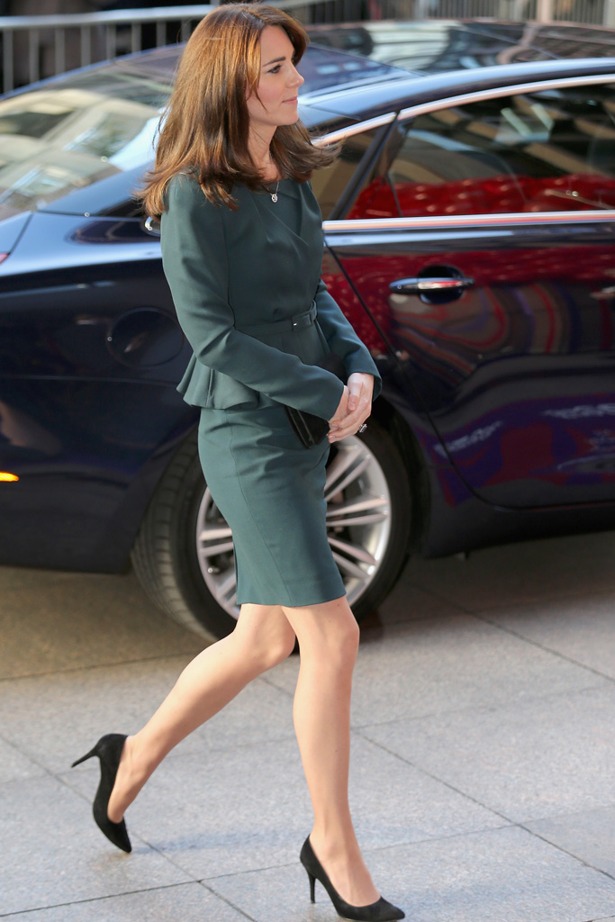 The Duchess arrives at the charity event.