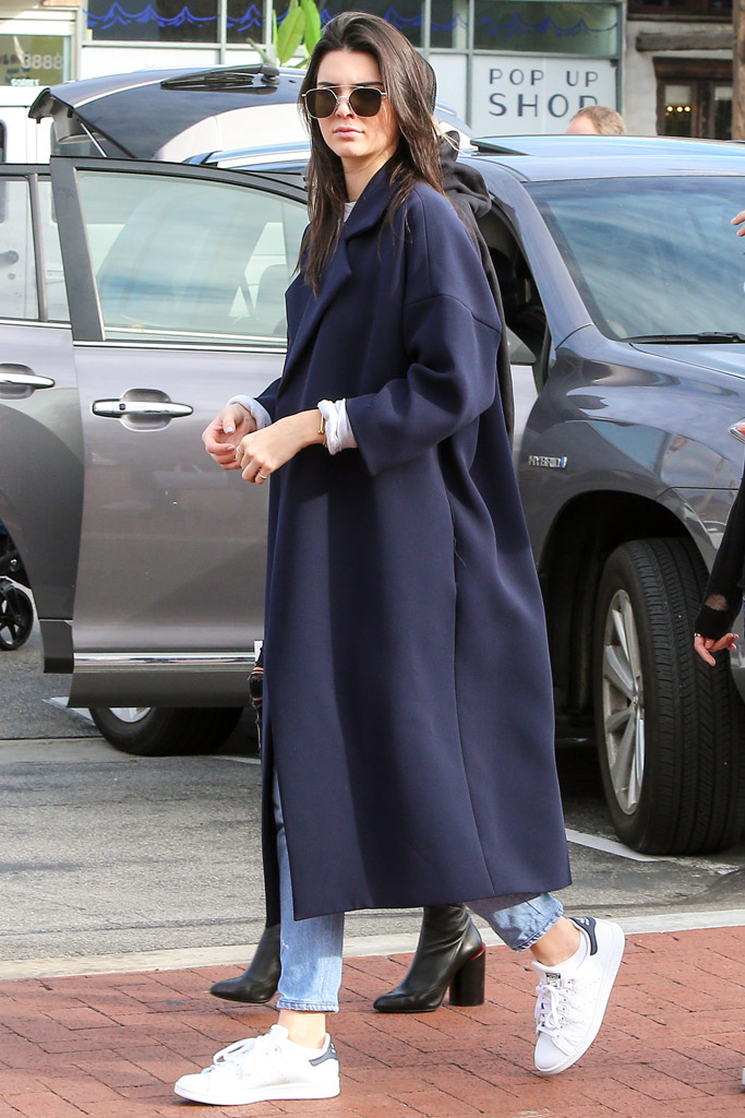 Kendall Jenner Celebrity Sneakers Style