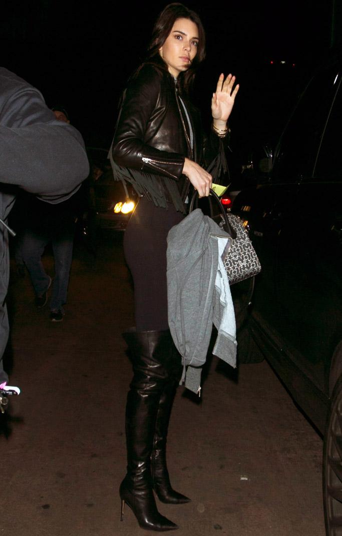 Kendall Jenner thigh-high boots