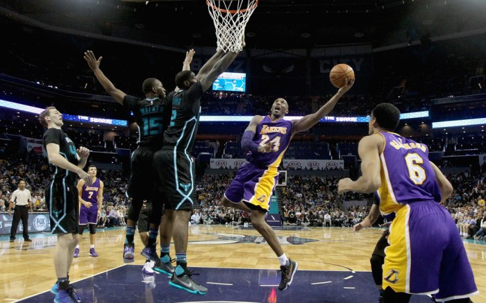 Kobe Bryant Charlotte Hornets