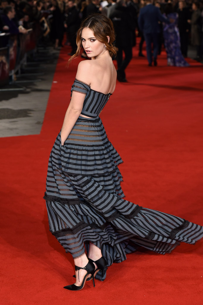 Lily James Celebrity Statement Shoes Winter 2016
