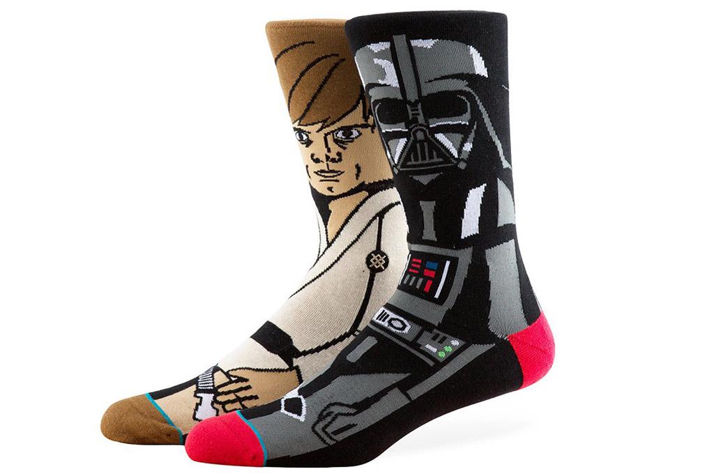 """Luke Skywalker and Darth Vader Stance """"Star Wars"""" socks"""