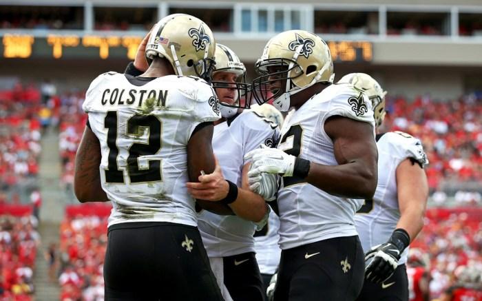 Drew Brees Marques Colston New Orleans Saints