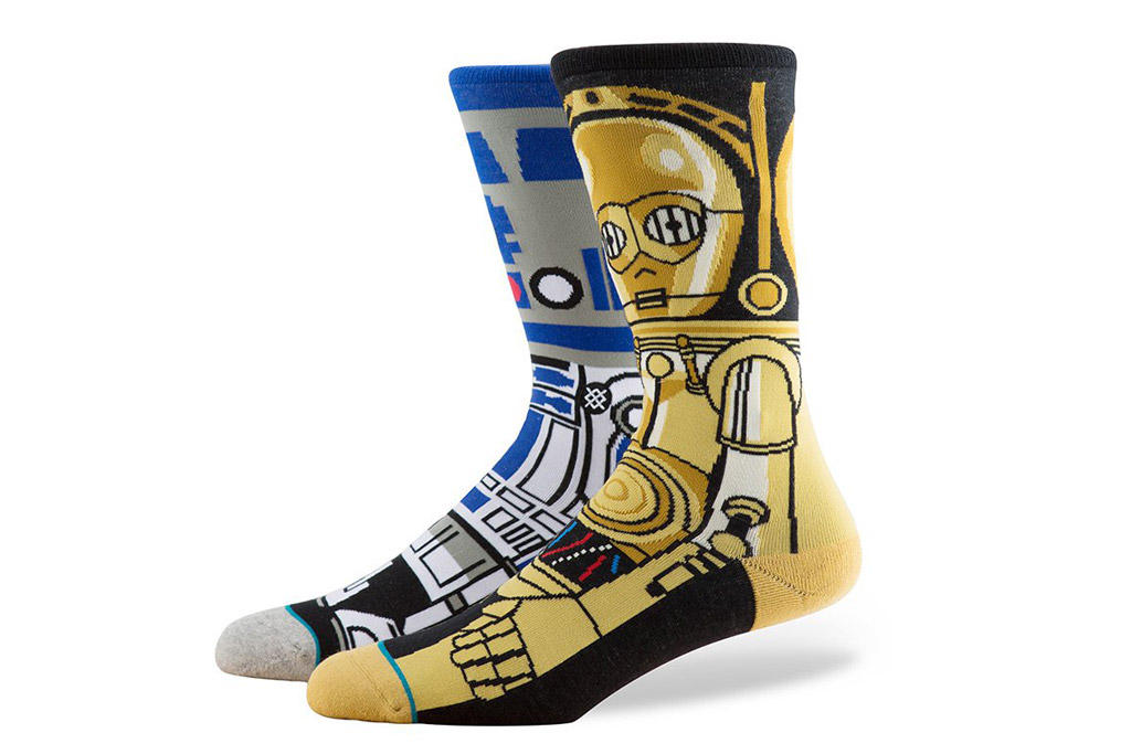"""R2-D2 and C3-P0 Stance """"Star Wars"""" socks"""
