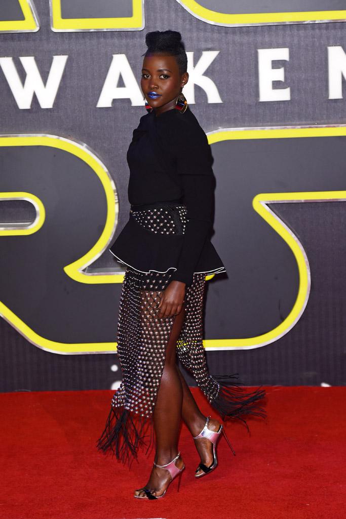 Lupita Nyong'o Celebrity Statement Shoes Winter 2015-2016