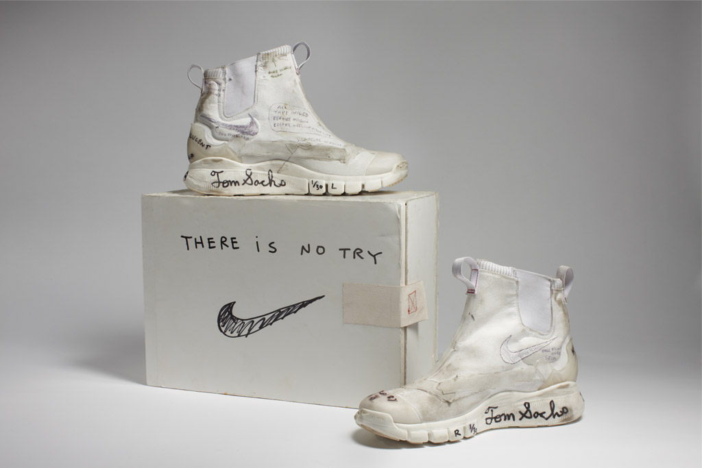Nike x Tom Sachs, NikeCraft Lunar Underboot Aeroply Experimentation Research Boot Prototype, 2008-12.