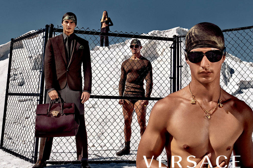 A look at the Versace men's campaign