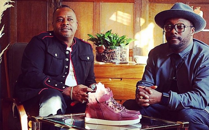 Will.i.am and brother Carl Gilliam Liberty London Sneakers