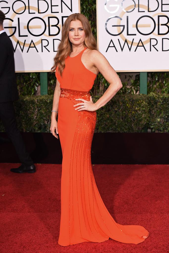 Amy Adams Golden Globes Red Carpet 2016