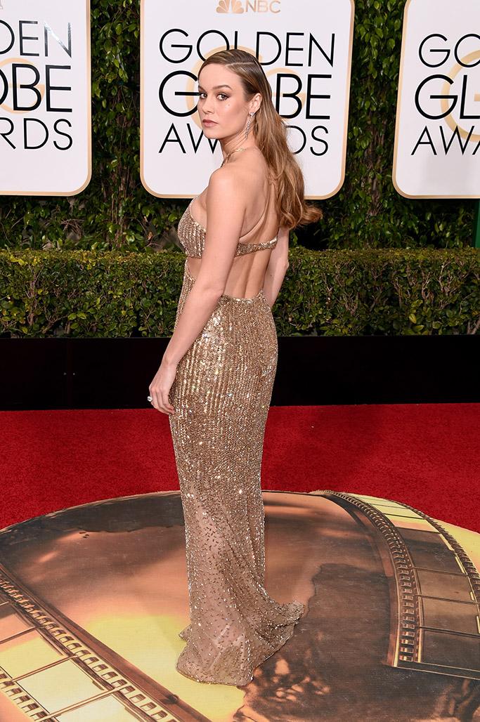 Brie Larson Golden Globes Red Carpet 2016