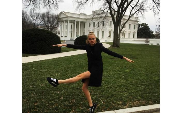 Cara Delevingne Puma Creepers White House