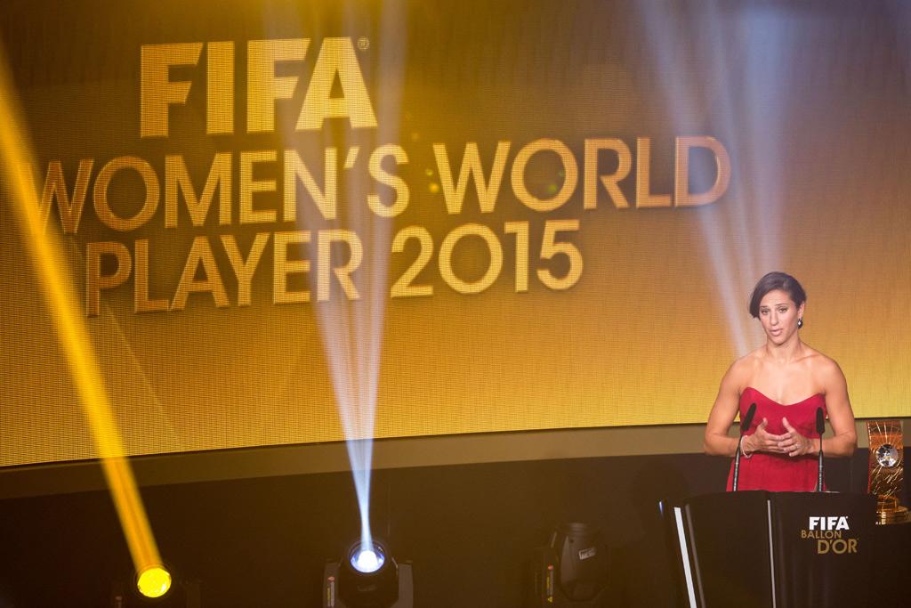 Carli Lloyd FIFA Women's Player of the Year 2015