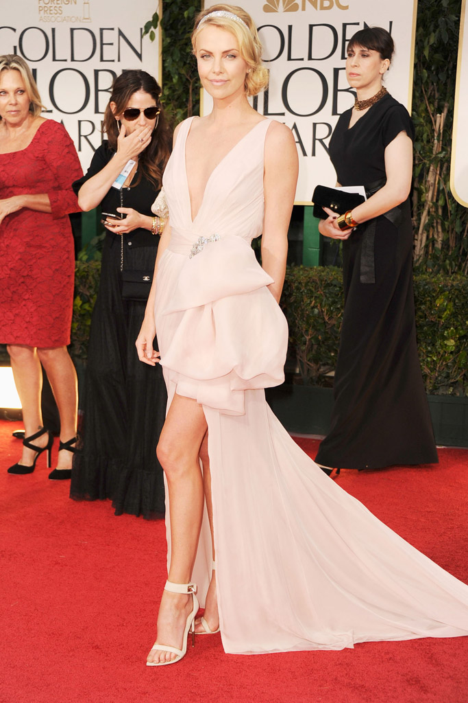 Charlize Theron Golden Globes Red Carpet
