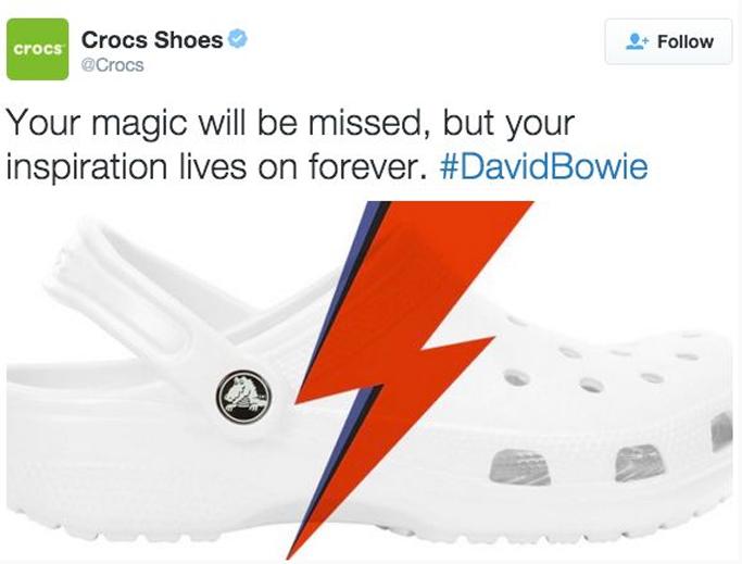 Crocs Twitter David Bowie