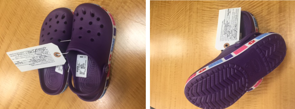 Allegedly infringing footwear produced by Evacol and included in Crocs' suit.