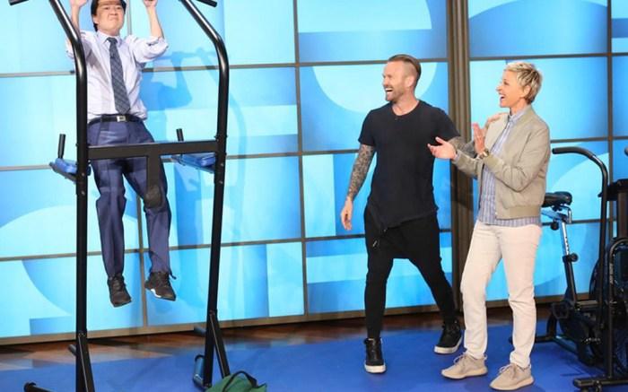 Ellen DeGeneres Yeezy Boost 350s