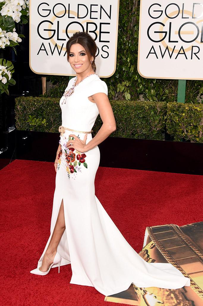 Eva Longoria Golden Globes Red Carpet 2016
