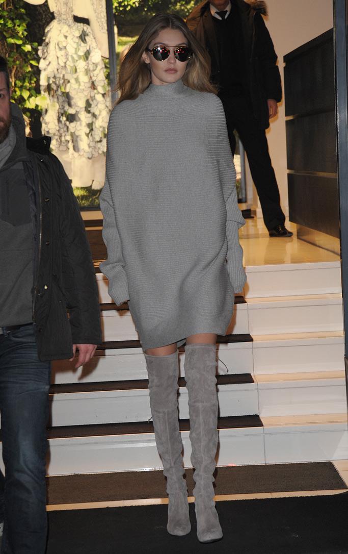 Gigi Hadid Paris Couture Week Shoes