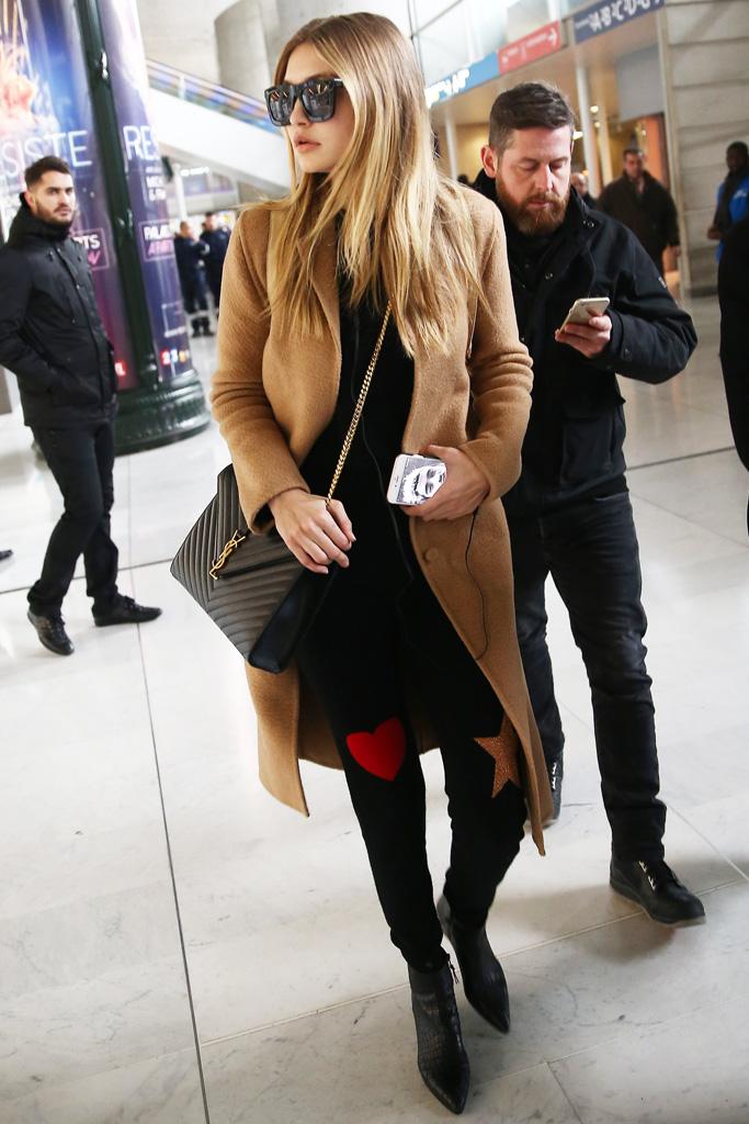 Gigi Hadid Stuart Weitzman ankle boots