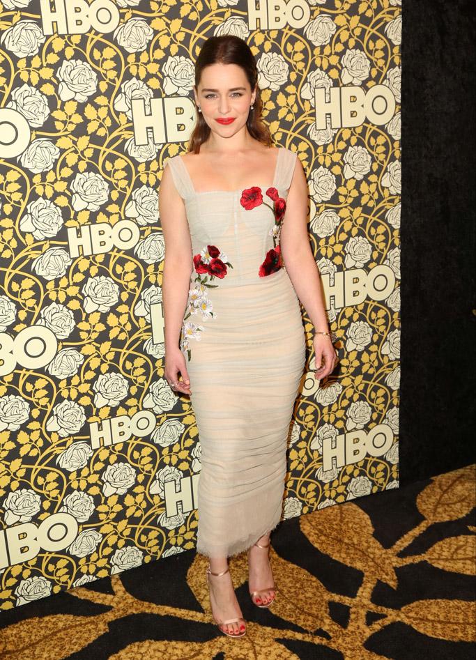 Emilia Clarke Golden Globes After Party 2016