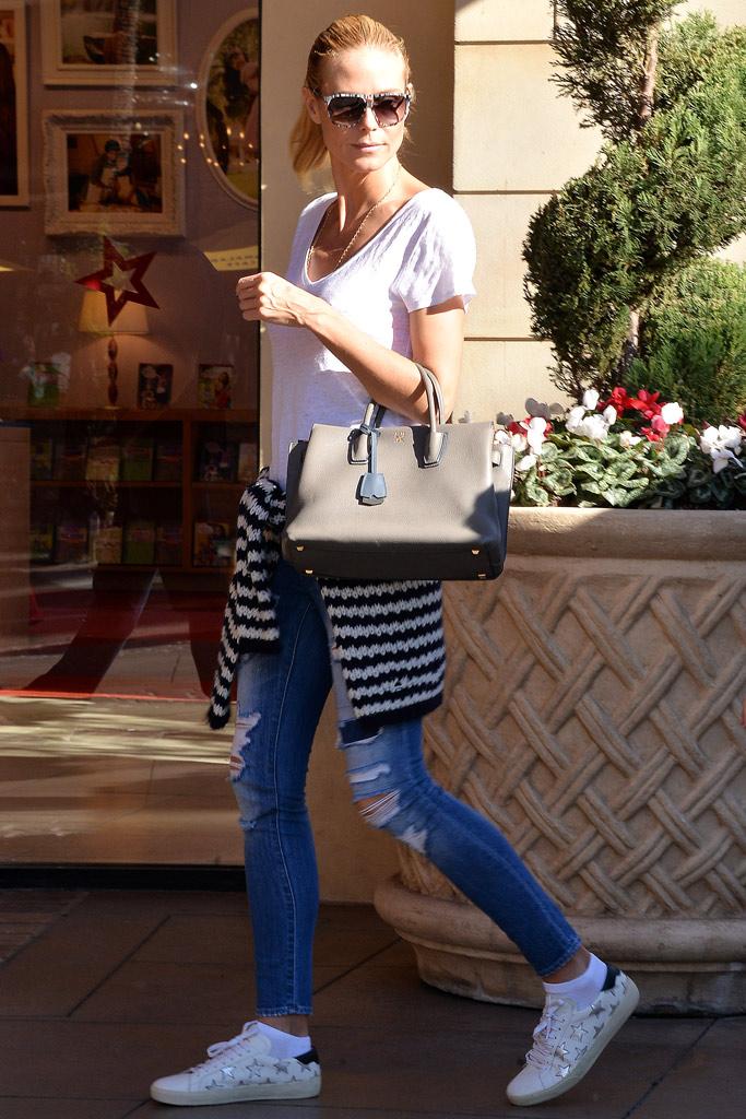Heidi Klum Saint Laurent Star Sneakers