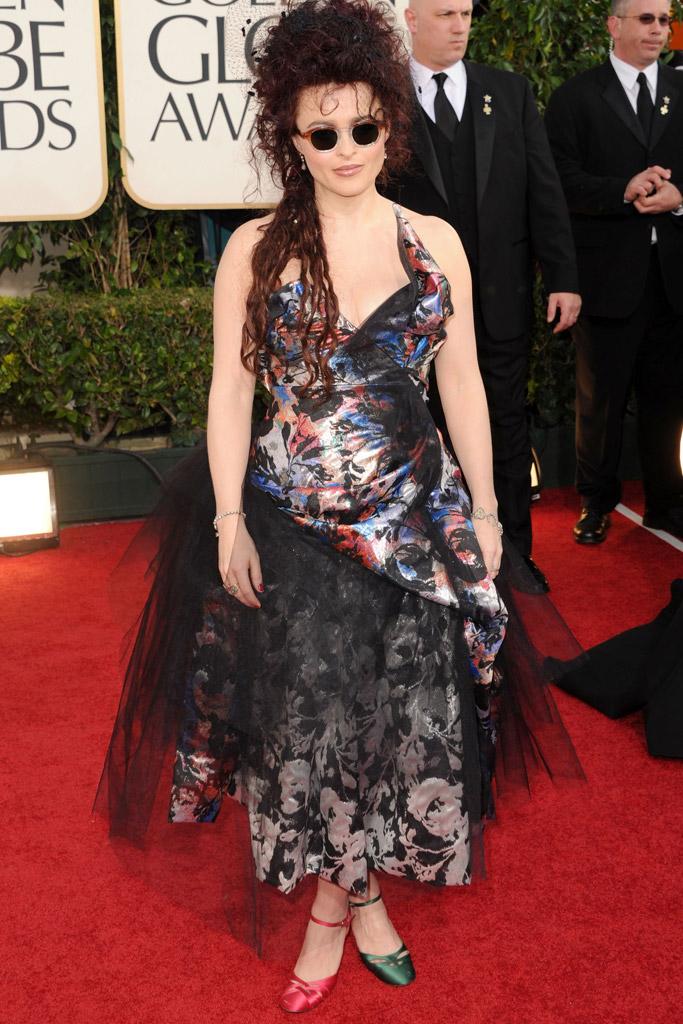 Helena Bonham Carter Golden Globes Red Carpet